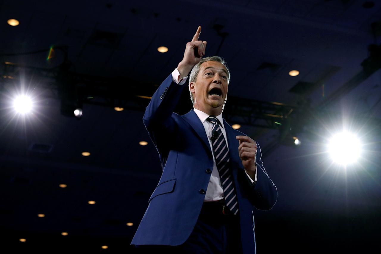 <p>Member of the European Parliament Nigel Farage speaks at the Conservative Political Action Conference, or CPAC, in Oxon Hill, Maryland, Feb. 24, 2017. (Photo: Kevin Lamarque/Reuters) </p>