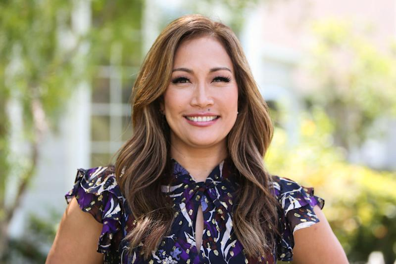 "Carrie Ann Inaba visits Hallmark's ""Home & Family"" at Universal Studios Hollywood on May 3 in Universal City, California. (Photo: Paul Archuleta/Getty Images)"