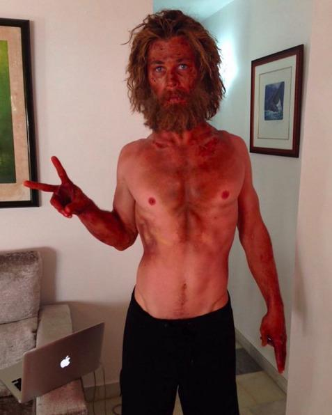 <p>Hemsworth pulled a Tom Hanks in <i>Castaway </i>for his new movie <i>In the Heart of the Sea</i>, so this beard is not something we can blame him for, but we definitely prefer his signature clean shave. (Photo: Instagram)</p>