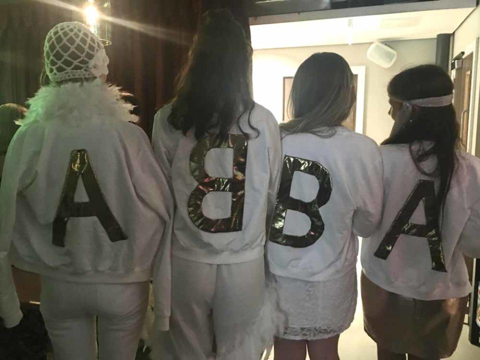 Jane handmade ABBA jackets for her hen party in May 2016(Collect/PA Real Life).