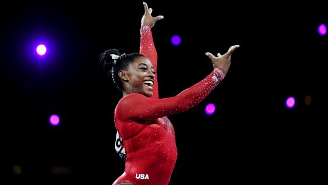 It was another day to remember for Simone Biles, who tied a record held by Vitaly Scherbo at the World Artistic Gymnastics Championships.