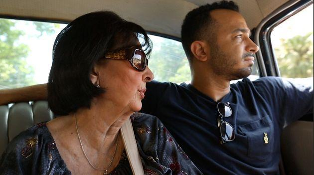Actor and filmmaker Andy Señor Jr. (right) with his mother, Gloria, in Cuba in 2014. (Photo: HBO)