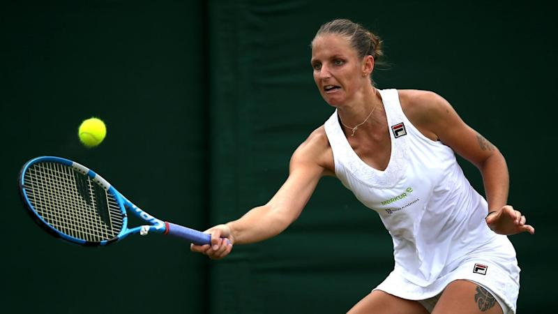 Seventh seed Karolina Pliskova is the latest big gun to fall ahead of Wimbledon quarter-finals