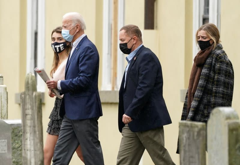 Joe Biden attends church in Wilmington, Delaware
