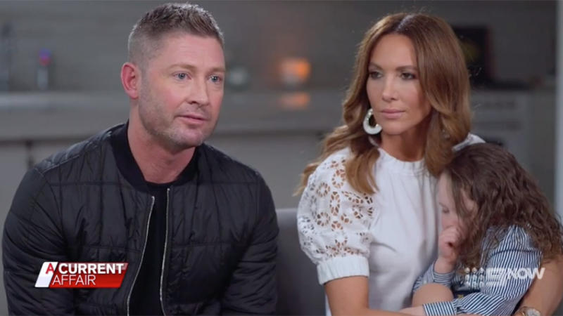 Michael and Kyly Clarke opened up about the night their daughter Bella almost stopped breathing. Photo: ACA