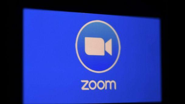 PHOTO: A photo illustration shows a Zoom App logo is displayed on a smartphone, March 30, 2020 in Arlington, Va. (Olivier Douliery/AFP via Getty Images)