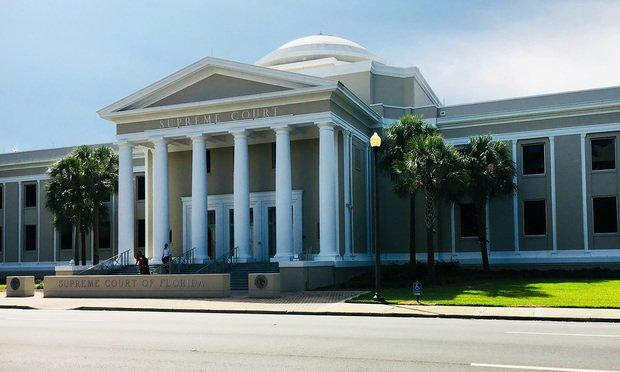 Florida Supreme Court in Tallahassee, Florida. Photo: Raychel Lean/ALM.