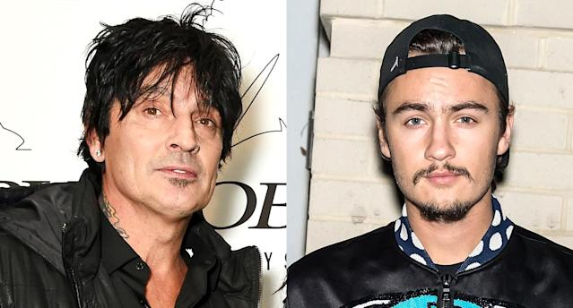 Father and son Tommy Lee and Brandon Lee are publicly feuding. (Photo: Getty Images)