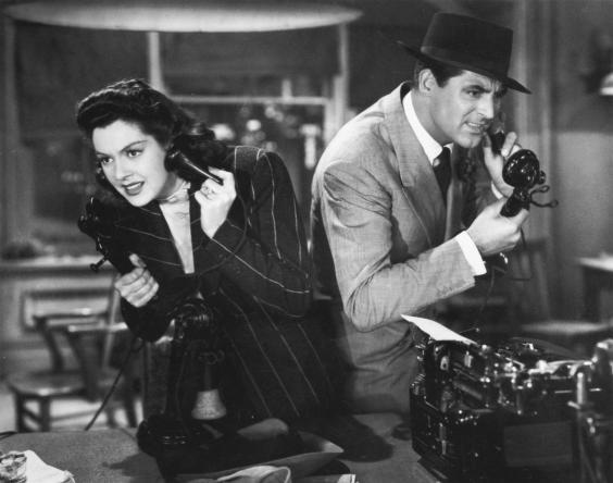 Cary Grant and Rosalind Russell in 'His Girl Friday' (Columbia Pictures)