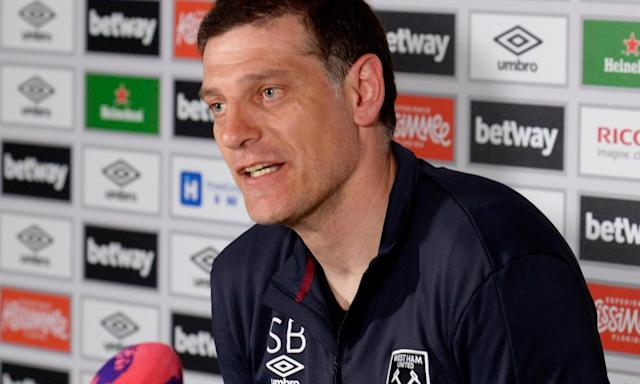 "<span class=""element-image__caption"">Slaven Bilic says that West Ham are experiencing similar problems to those Southampton and Arsenal suffered after building new stadia.</span> <span class=""element-image__credit"">Photograph: Avril Husband/West Ham United via Getty Images</span>"