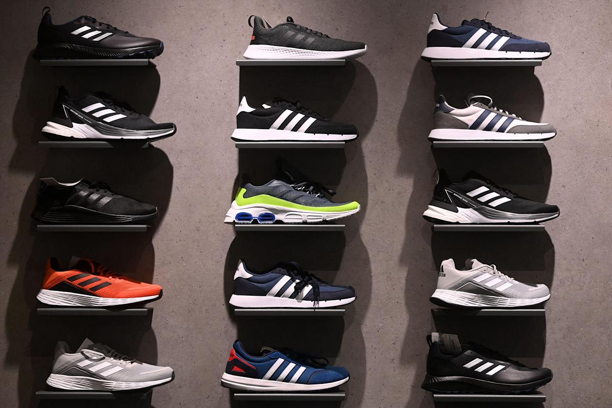 Head back to school in style and on a budget thanks to Adidas. (Photo by CHRISTOF STACHE/AFP via Getty Images)