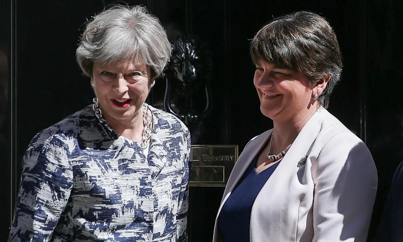 Arlene Foster's Democratic Unionist party is propping up the Tory government.
