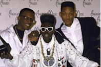 <p>DJ Jazzy Jeff, Flavor Flav and Will Smith at the American Music Awards in 1989.</p>