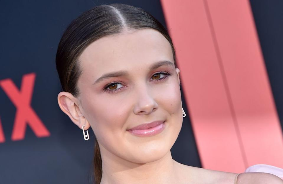 Fans have been left confused by Millie Bobby Brown's latest skincare tutorial [Photo: Getty]