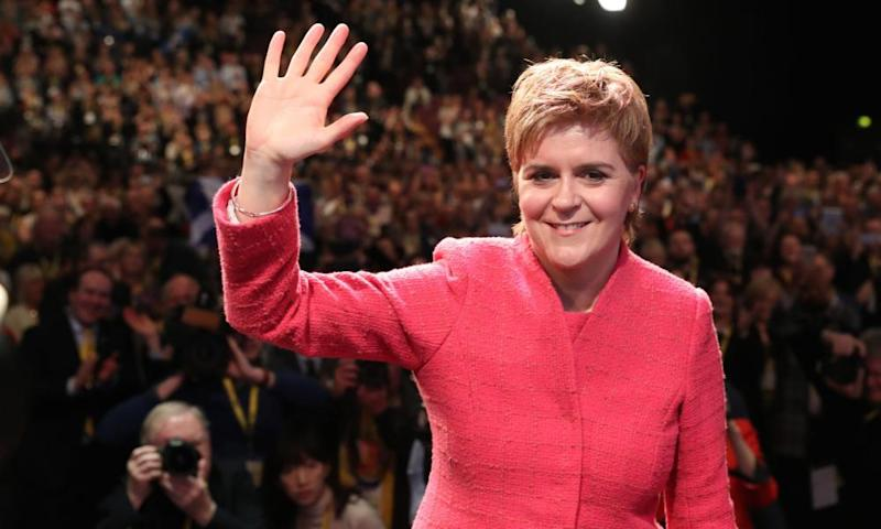 Nicola Sturgeon at the SNP conference.