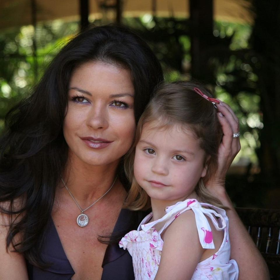 Catherine Zeta-Jones celebrated daughter Carys' birthday by sharing a throwback photo. Photo: Instagram/Catherine Zeta-Jones