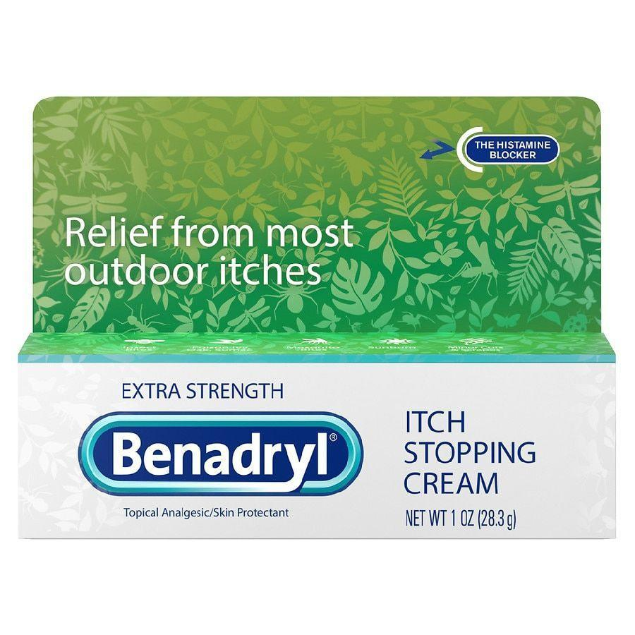 """<p><strong>Benadryl</strong></p><p>walgreens.com</p><p><strong>$4.29</strong></p><p><a href=""""https://go.redirectingat.com?id=74968X1596630&url=https%3A%2F%2Fwww.walgreens.com%2Fstore%2Fc%2Fbenadryl-itch-stopping-cream-extra-strength%2FID%3Dprod16184-product&sref=https%3A%2F%2Fwww.womenshealthmag.com%2Fhealth%2Fg36743167%2Fbest-anti-itch-creams%2F"""" rel=""""nofollow noopener"""" target=""""_blank"""" data-ylk=""""slk:Shop Now"""" class=""""link rapid-noclick-resp"""">Shop Now</a></p><p>This histamine-blocking cream can bring soothing relief to itching caused by outdoor aggravators, like bug bites, and poison ivy.</p>"""