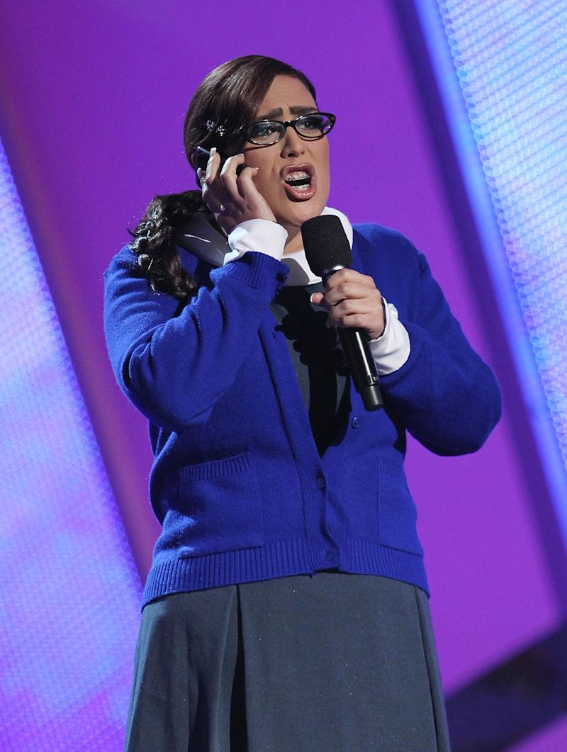 Angelica Vale speaks onstage at the 11th Annual Latin Grammy Awards at Mandalay Bay Events Center on November 11, 2010 in Las Vegas, Nevada. (Photo by Michael Tran/FilmMagic)