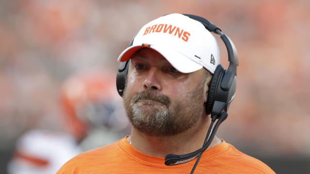 Cleveland Browns head coach Freddie Kitchens said he's not in over his head as the team's head coach. (AP)