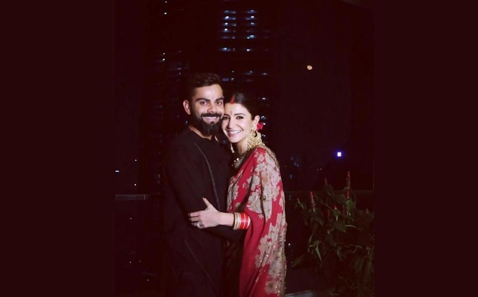 Just like last year, Anushka and Virat shared a set of captivating pics of them celebrating <em>karwa-chauth</em>. The Indian skipper suggested that he too was fasting on the day, and praying for the well-being of his better-half.The internet couldn't stop gushing over how madly in love they look.
