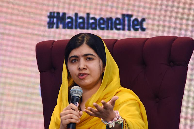 Activist Malala Yousafzai was awarded the Nobel Peace Prize at the age of 17 after surviving an assassination attempt by a Taliban gunman in 2012. (Getty Images)