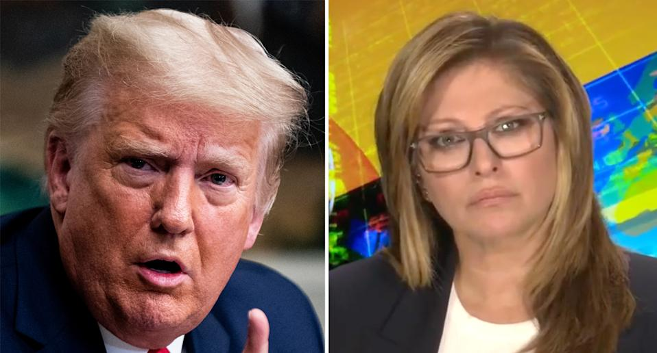 Donald Trump pictured left spoke to Fox News host Maria Bartiromo (right). Source: Getty/Fox News