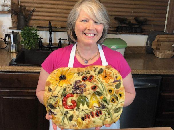 PHOTO: Focaccia gardens are blooming in kitchens around the world as bakers try to keep busy at home during the coronavirus pandemic. (Courtesy Teri Culetto)
