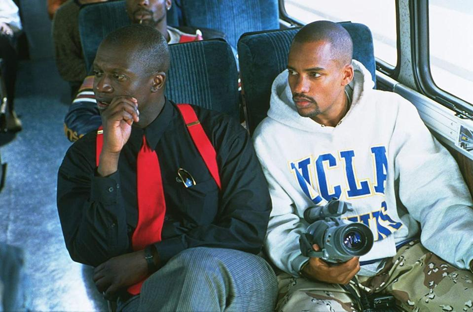 "<p>In this film directed by Spike Lee, a group of Black men board a bus headed to Washington, D.C.'s Million Man March. And while they started out the trip as strangers, their shared life experiences as African Americans bond them for life.</p><p><a class=""link rapid-noclick-resp"" href=""https://www.netflix.com/title/60004107"" rel=""nofollow noopener"" target=""_blank"" data-ylk=""slk:Watch Now"">Watch Now</a></p>"