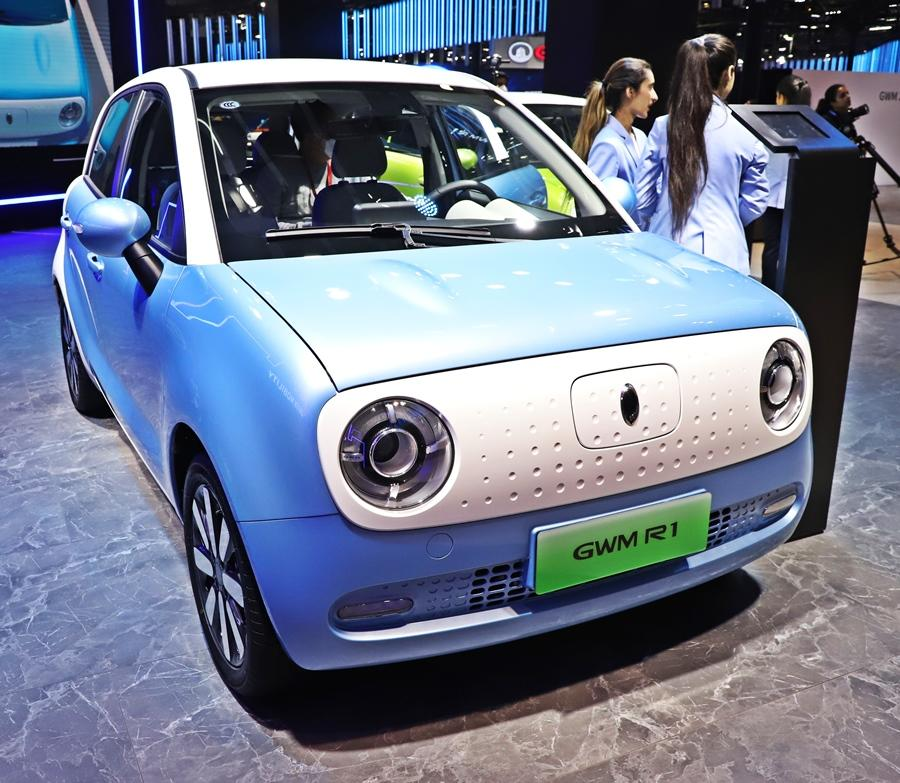 Great Wall Motors showed its R1 EV, which is the only affordable EV with a long range. It is sold in China as the 'ORA' R1, but in India it might be sold as GWM R1 with a 300-km range.