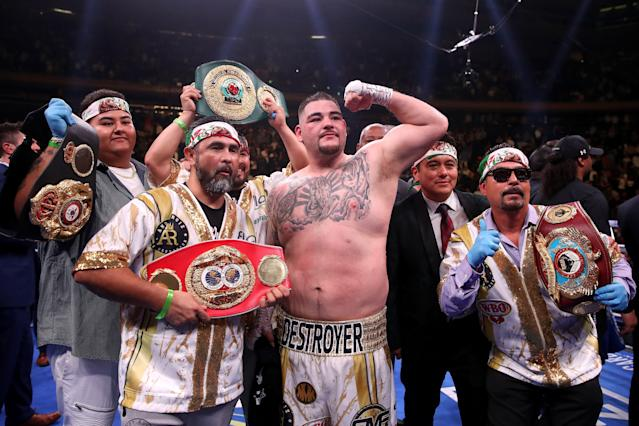 Andy Ruiz Jr. is already scoring knockouts. (Getty Images)