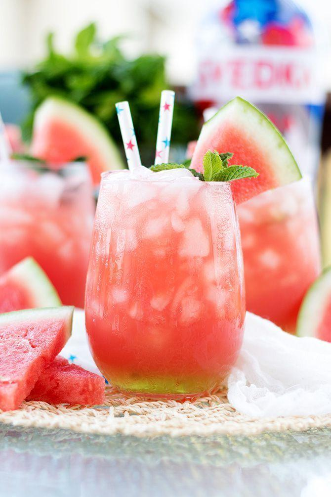 """<p>Pair fresh watermelon and watermelon vodka for a simple cocktail that's great for 4th of July.</p><p><strong>Get the recipe at <a href=""""https://www.jennifermeyering.com/vodka-watermelon-cooler/"""" rel=""""nofollow noopener"""" target=""""_blank"""" data-ylk=""""slk:Jennifer Meyering"""" class=""""link rapid-noclick-resp"""">Jennifer Meyering</a>.</strong></p><p><strong><a class=""""link rapid-noclick-resp"""" href=""""https://go.redirectingat.com?id=74968X1596630&url=https%3A%2F%2Fwww.walmart.com%2Fsearch%2F%3Fquery%3Dpaper%2Bstraw&sref=https%3A%2F%2Fwww.thepioneerwoman.com%2Ffood-cooking%2Fmeals-menus%2Fg32147587%2Fwatermelon-drink-recipes%2F"""" rel=""""nofollow noopener"""" target=""""_blank"""" data-ylk=""""slk:SHOP PAPER STRAWS"""">SHOP PAPER STRAWS</a><br></strong></p>"""
