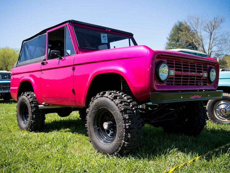 A Ford Bronco on display at the Bronco Super Celebration event held at Tally Ho Inn in Townsend, Tenn.