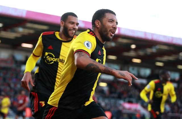 Troy Deeney lashed in Watford's second (Adam Davy/PA)