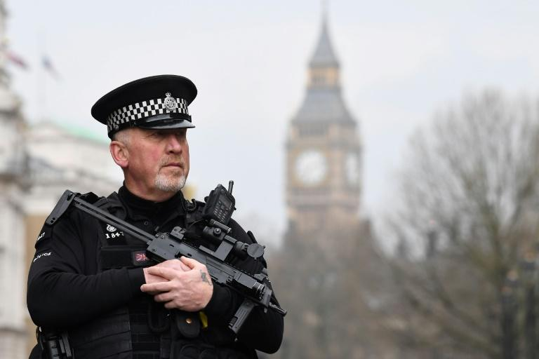 British police have tightened security near the Houses of Parliament in London