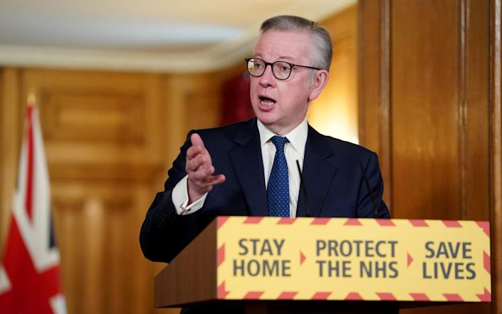 Michael Gove sought to reassure teachers and parents, saying the 'clear scientific and clinical advice' was that it was safe for schools to reopen providing social distancing was enforced - PA