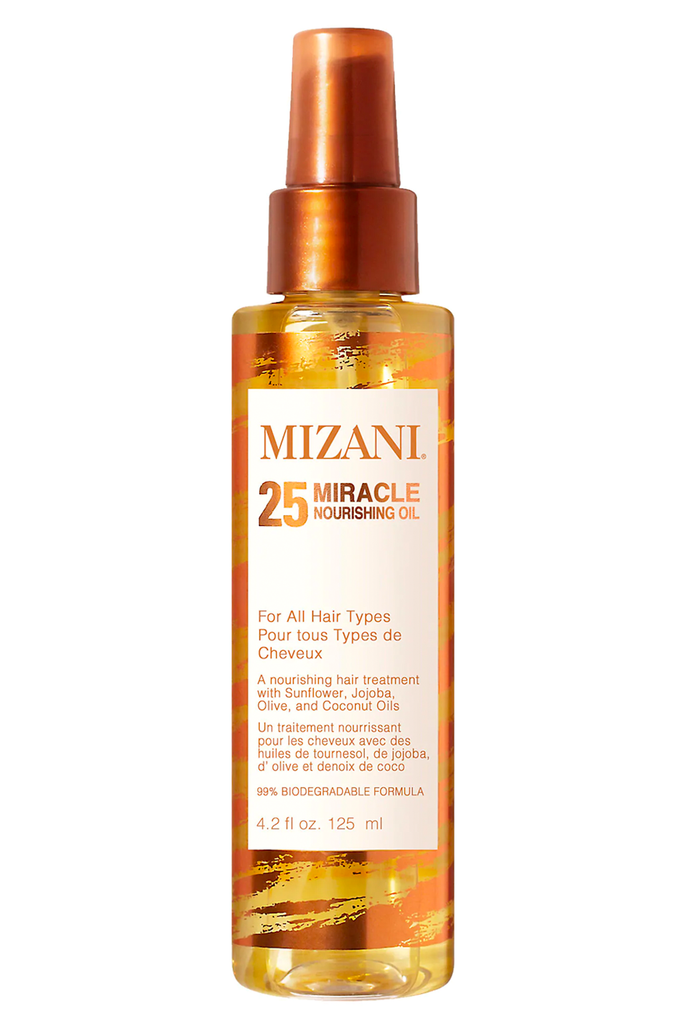 "<p><strong>Mizani</strong></p><p>sephora.com</p><p><strong>$22.00</strong></p><p><a href=""https://go.redirectingat.com?id=74968X1596630&url=https%3A%2F%2Fwww.sephora.com%2Fproduct%2Fmizani-25-miracle-nourishing-oil-P455842&sref=https%3A%2F%2Fwww.cosmopolitan.com%2Fstyle-beauty%2Fbeauty%2Fg32978979%2Fbest-hair-moisturizers%2F"" rel=""nofollow noopener"" target=""_blank"" data-ylk=""slk:Shop Now"" class=""link rapid-noclick-resp"">Shop Now</a></p><p>The best thing about this hydrating <a href=""https://www.cosmopolitan.com/style-beauty/beauty/news/a45584/best-oils-for-your-hair/"" rel=""nofollow noopener"" target=""_blank"" data-ylk=""slk:hair oil"" class=""link rapid-noclick-resp"">hair oil</a> from Mizani is that it can be used on any hair texture. The formula (which works on dry or wet hair, BTW) calls on three oils—coconut, jojoba, and sunflower seed—to <strong>add back moisture, shine, and softness</strong> every time you use it.</p>"