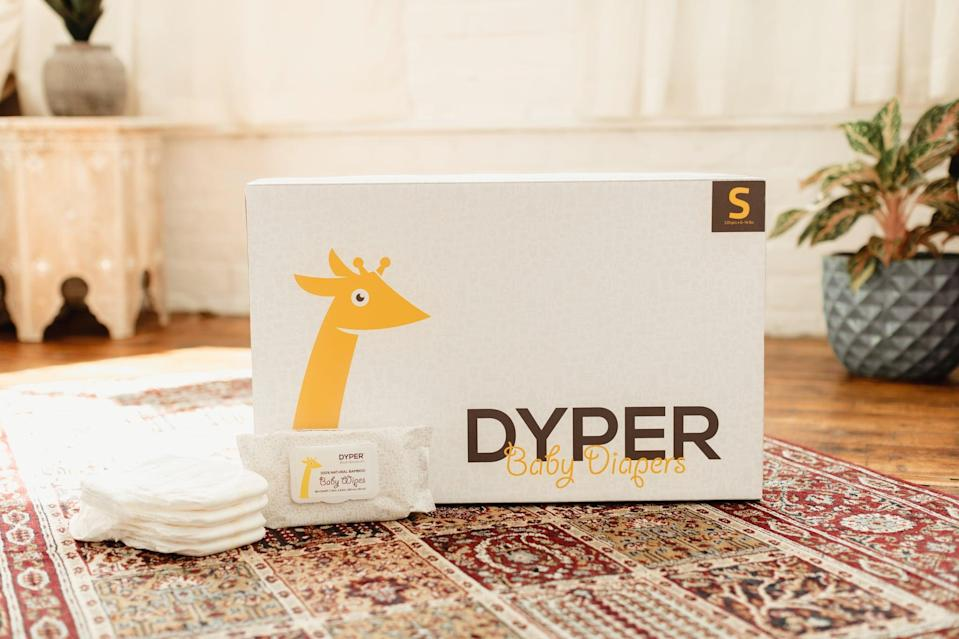 <p><span>Dyper</span> ($68 and up) is a brand committed to making single-use diapers more environmentally friendly. By partnering with TerraCycle, Dyper customers can easily compost their child's diapers by sending them away for composting through their <span>ReDyper service</span>. For every purchase, Dyper also purchases carbon offsets to reduce the footprint of the diapering journey.</p>
