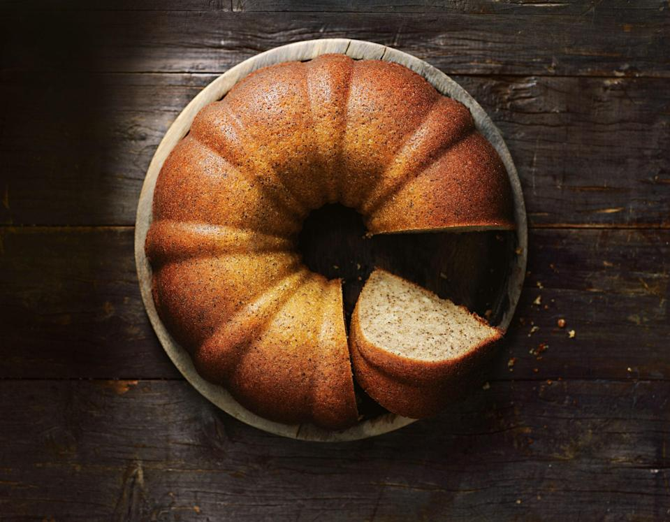 """The essence of warm, fragrant flavor, this easy cake recipe from Donna Hay calls for both loose chai leaves and pumpkin pie spice. Everything mixes up in one bowl. <a href=""""https://www.epicurious.com/recipes/food/views/spiced-chai-bundt-cake-56390089?mbid=synd_yahoo_rss"""" rel=""""nofollow noopener"""" target=""""_blank"""" data-ylk=""""slk:See recipe."""" class=""""link rapid-noclick-resp"""">See recipe.</a>"""