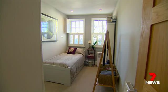 Ms Luther said the secret to creating more space was custom-designed 'skinny' furniture. Source: 7 News