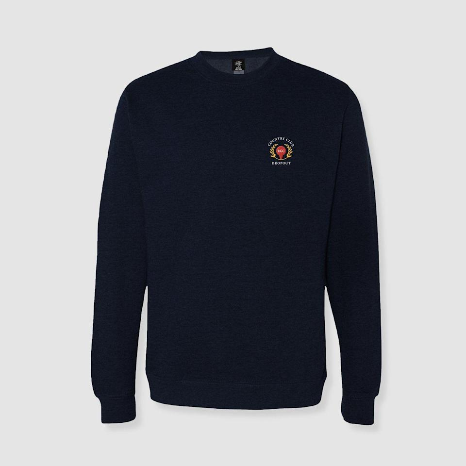"<p><strong>Country Club Dropout Crewneck</strong></p><p>randomgolfclub.com</p><p><strong>$55.00</strong></p><p><a href=""https://shop.randomgolfclub.com/collections/sweatshirts/products/cc-dropout-crewneck"" rel=""nofollow noopener"" target=""_blank"" data-ylk=""slk:Shop Now"" class=""link rapid-noclick-resp"">Shop Now</a></p><p>The logo says it all. Random Golf Club is the golfer's antidote to the game's stuffy, antiquated origins. The brand was founded on the idea that ""All Are Welcome,"" the antithesis of your average country club's mantra. </p>"