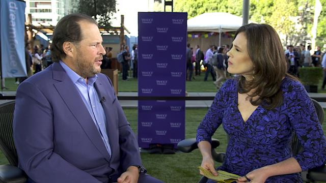 Salesforce's Marc Benioff sits down with Yahoo Finance's Nicole Sinclair at Dreamforce 2017