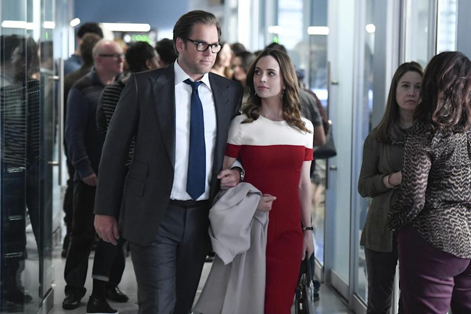 Michael Weatherly and Eliza Dushku star in <em>Bull.</em> (Photo: Dave Russell/CBS ©2017 CBS Broadcasting, Inc.)
