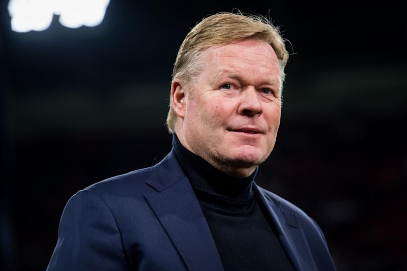 Ronald Koeman was rushed to the hospital on Sunday after experiencing chest pains following a bike ride. (Photo by ANP Sport via Getty Images)