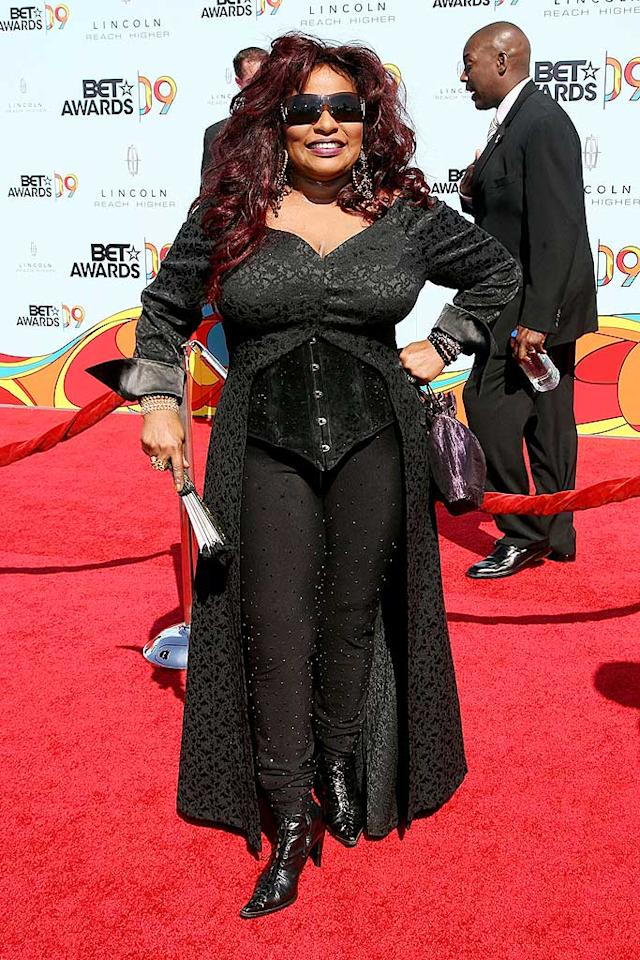 "Chaka Khan always stands out in a crowd! This year, the Grammy-winning singer brought a touch of goth to the BET Awards. Maury Phillips/<a href=""http://www.wireimage.com"" target=""new"">WireImage.com</a> - June 28, 2009"
