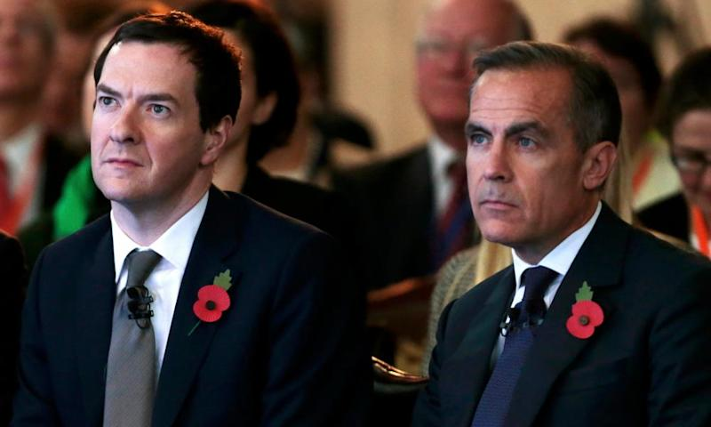 Mark Carney with the man who appointed him, former chancellor George Osborne.