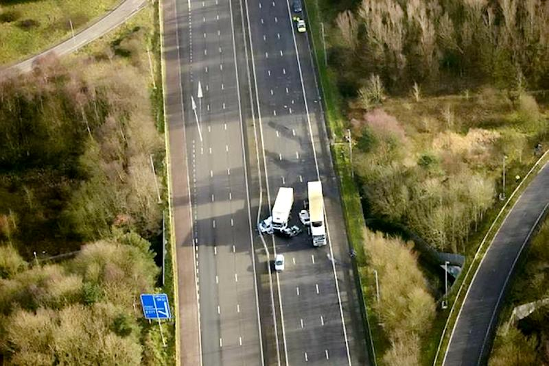 Margaret Harrison, 91, from Orrell, Wigan, died after the crash on the M58 at Skelmersdale. (SWNS)