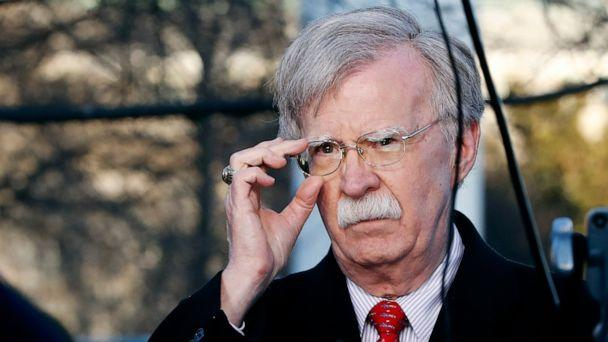 PHOTO: National security adviser John Bolton adjusts his glasses before an interview at the White House in Washington, March 5, 2019. (Jacquelyn Martin/AP, FILE)