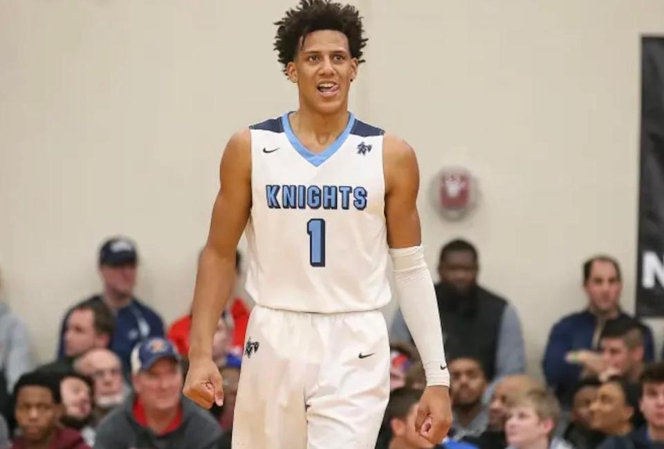 Jalen Johnson faced taunts of an image of his face covered in a black substance during a high school basketball game. (<span>Darren Lee/BadgerBlitz.com)</span>