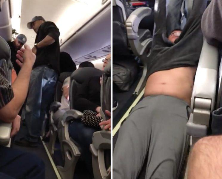 The passenger, a 69-year-old doctor, was forcibly removed from the flight (Twitter)