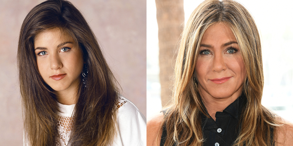 """<p>Hair faux pas — everyone makes them, even Jennifer Aniston. If you're feeling seriously jealous of Jen's always camera-ready hair in <em><a href=""""https://www.goodhousekeeping.com/life/entertainment/a30389590/the-morning-show-season-2/"""" rel=""""nofollow noopener"""" target=""""_blank"""" data-ylk=""""slk:The Morning Show"""" class=""""link rapid-noclick-resp"""">The Morning Show</a>, </em>just remember that she too fell victim to some ill-advised '90s trends. Yet whatever the color, cut or style of her hair, Jen somehow always manages to look amazing. So if you're <a href=""""https://www.goodhousekeeping.com/beauty/hair/g847/celebrity-haircuts/"""" rel=""""nofollow noopener"""" target=""""_blank"""" data-ylk=""""slk:considering what to do for your next cut"""" class=""""link rapid-noclick-resp"""">considering what to do for your next cut</a>, there's plenty of inspiration you can take from her more recent looks,</p><p>Despite the fact that she seemingly hasn't aged a day since <em>Friends</em> first premiered (which may have something to do with <a href=""""https://www.goodhousekeeping.com/health/diet-nutrition/a27556374/jennifer-aniston-diet/"""" rel=""""nofollow noopener"""" target=""""_blank"""" data-ylk=""""slk:her veggie and protein-heavy diet"""" class=""""link rapid-noclick-resp"""">her veggie and protein-heavy diet</a>), her hair has gone through some significant changes over the years. From her early days in Hollywood as a natural brunette, to her very mid-'90s tight curls, and of course, <a href=""""https://www.goodhousekeeping.com/life/entertainment/a30716569/jennifer-aniston-friends-fans-central-perk-video/"""" rel=""""nofollow noopener"""" target=""""_blank"""" data-ylk=""""slk:who could forget 'the Rachel?"""" class=""""link rapid-noclick-resp"""">who could forget 'the Rachel?</a>' — here's a quick look at how Jennifer Aniston's hair has changed over the years.<br></p>"""